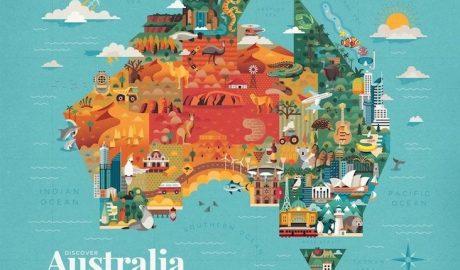 Australia Map by Jimmy Gleeson