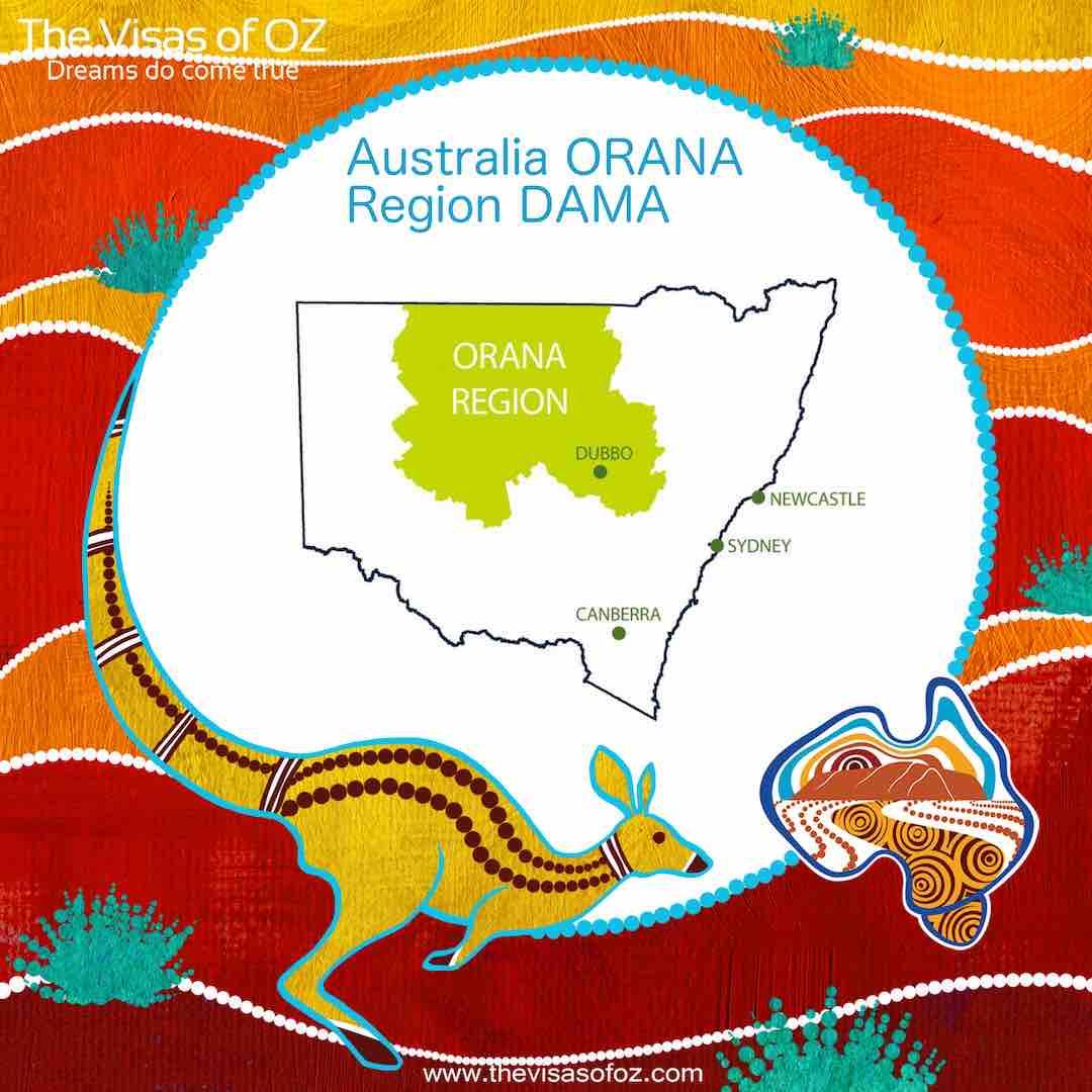 ORANA Region DAMA