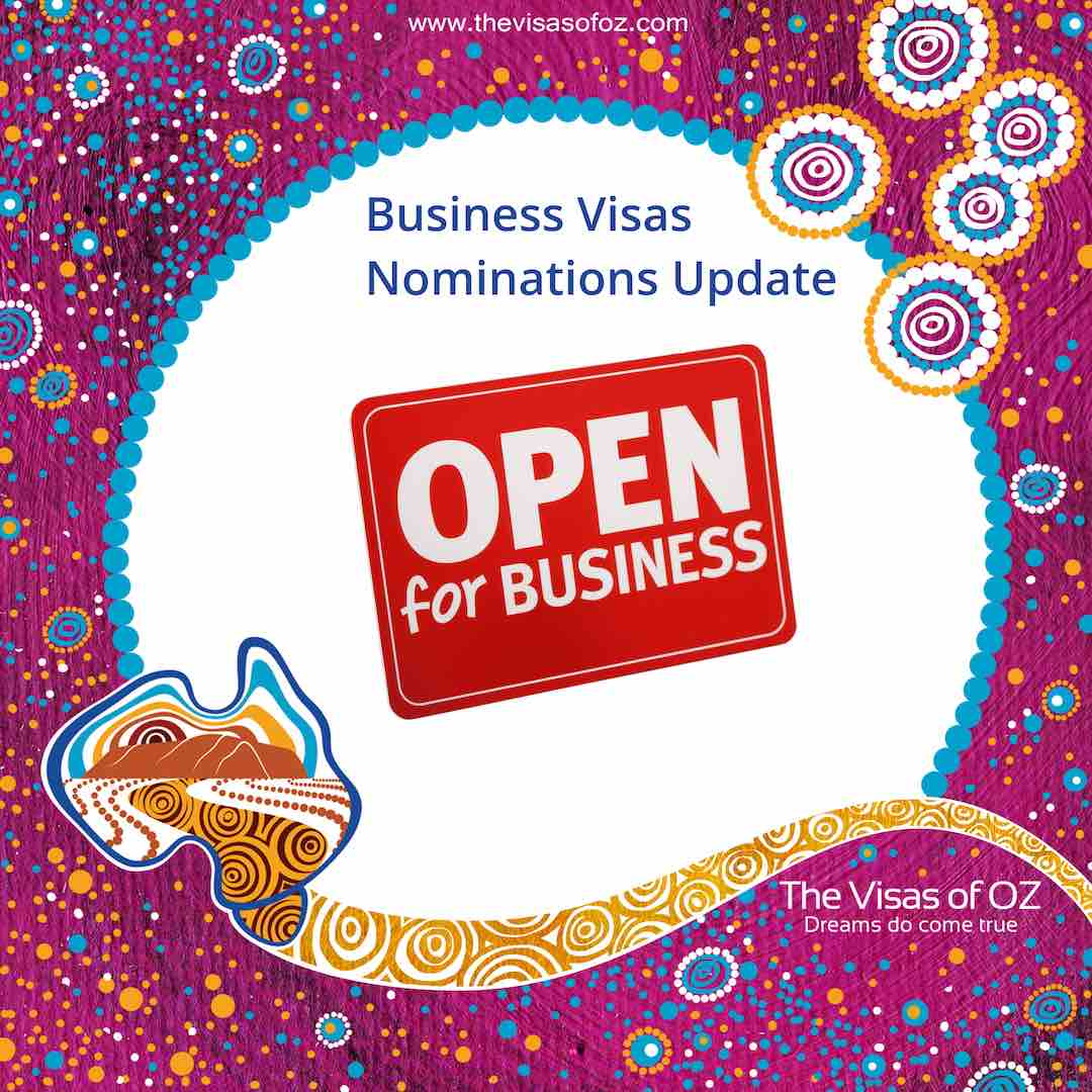 Business Visas Nominations Update